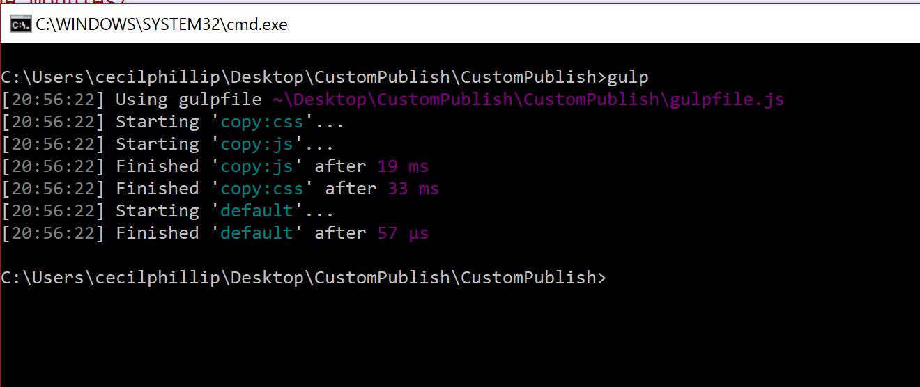 Excluding the node_modules folder when publishing ASP NET